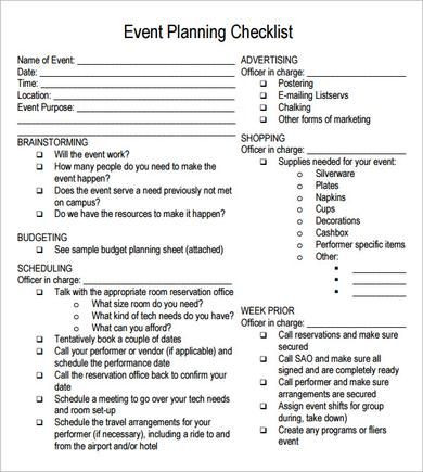 Event Planning Checklist Template Free Pin On Girl Scout Cadettes