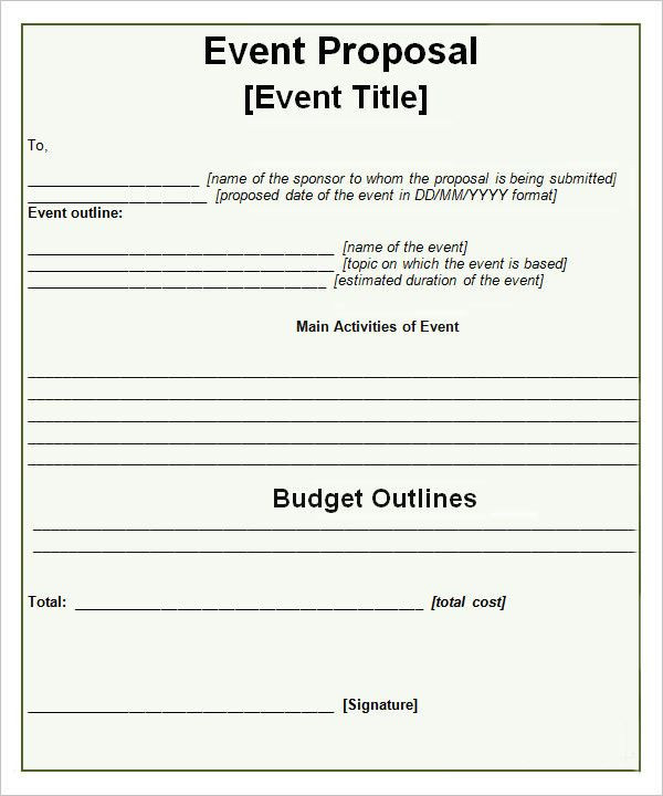 Event Planning Document Template event Proposal Template 16 Download Free Documents In Pdf