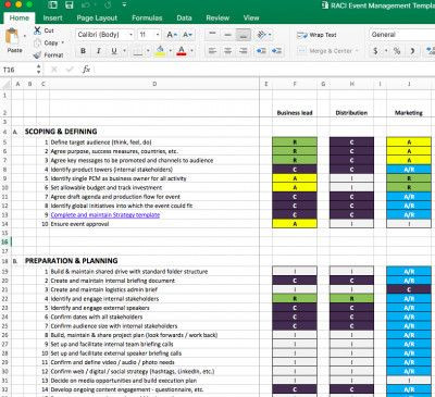 Event Planning Excel Template event Planning Template Excel Your event Management Plan