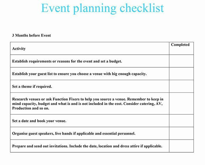 Event Planning form Template event Venue Checklist Template Luxury event Planning