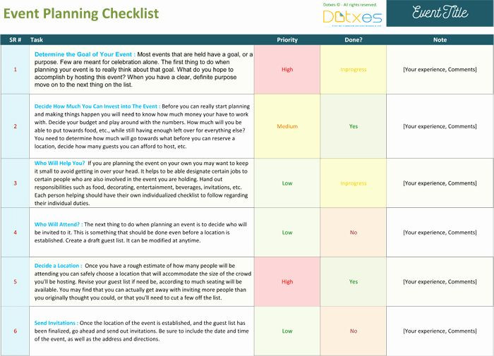 Event Planning Guide Template event Planning Guide Template Lovely event Planning Template