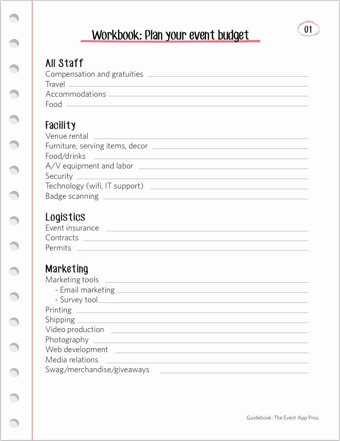 Event Planning Guide Template event Planning Worksheet Template Elegant We Found All the