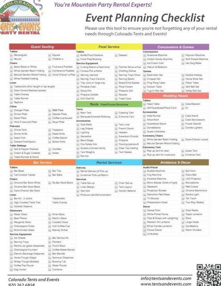 Event Planning Guide Template Party Planning Checklist How to Host A Baby Shower
