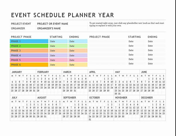 Event Planning Schedule Template event Planning Schedule Template Luxury event Planner In