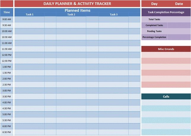 Excel Daily Planner Template Excel Planner Templates Gives An Overview Of the Tasks You