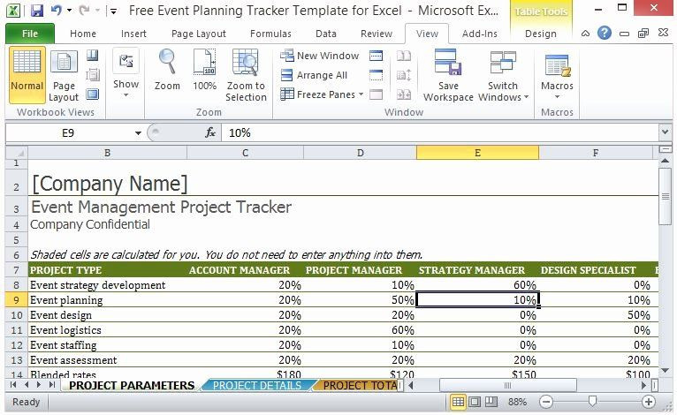 Excel event Planning Template Project Staffing Plan Template Excel Beautiful Free event