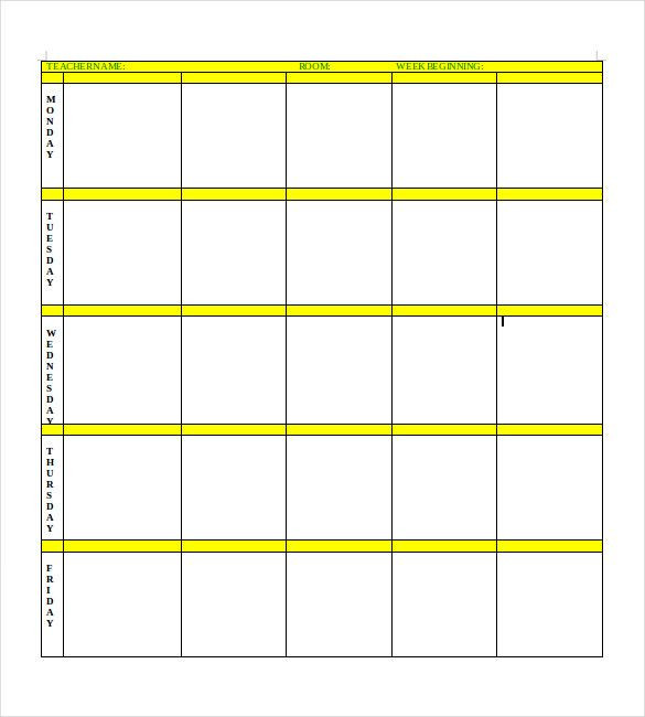 Excel Lesson Plan Template 16 Free Pdf Excel Word Google Drive format Download