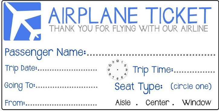 Fake Plane Ticket Template Airplane Ticket 725—369 Pixels