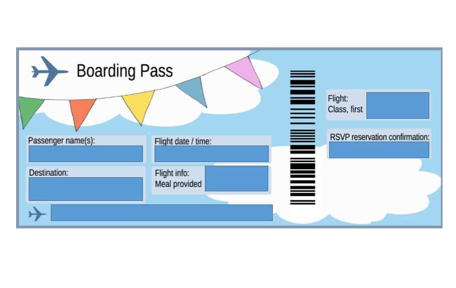 Fake Plane Ticket Template Download Boarding Pass Template 02