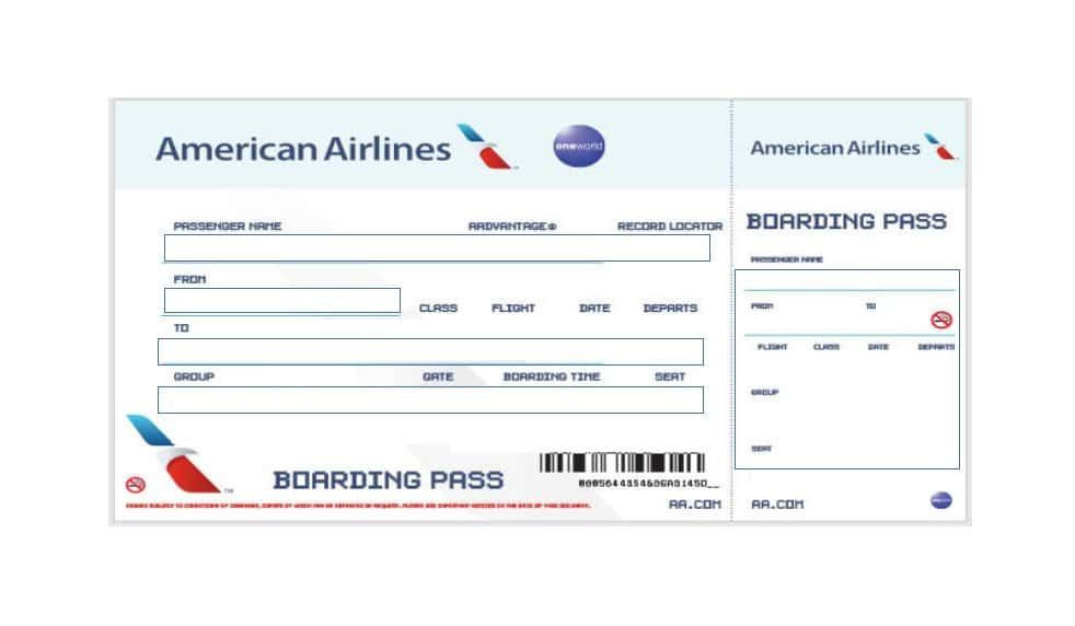 Fake Plane Ticket Template Download Boarding Pass Template 07 In 2020