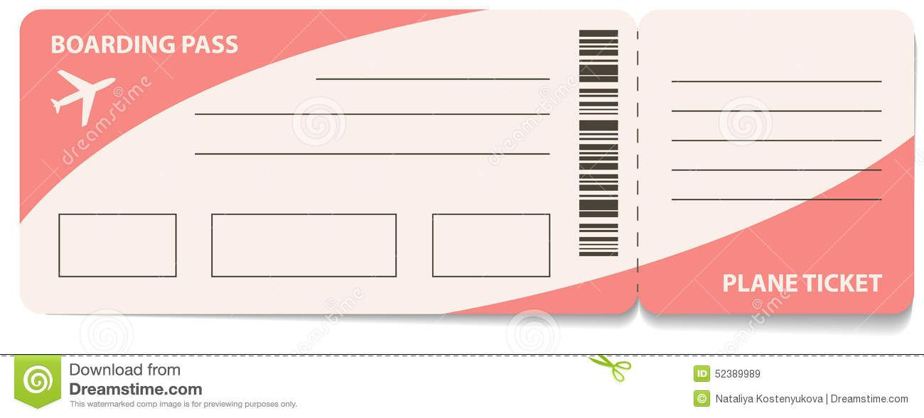 Fake Plane Ticket Template Fake Airline Ticket Template Gallery Template Design Ideas