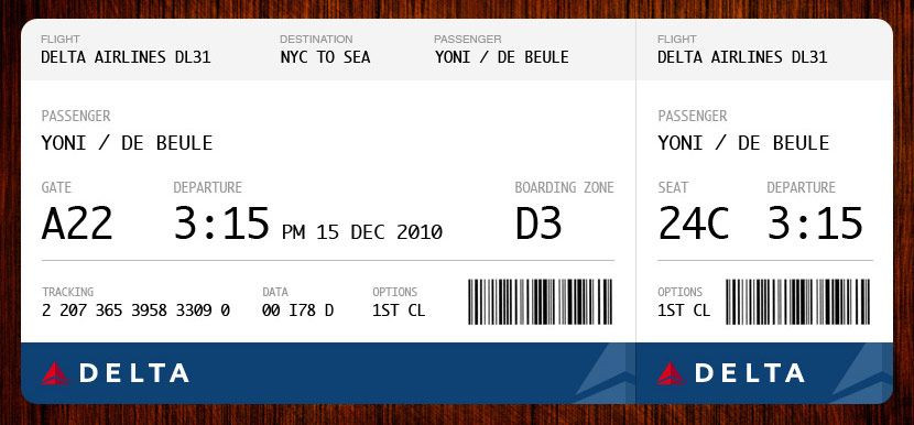 Fake Plane Ticket Template Redesigning the Boarding Pass Journal Boarding Pass