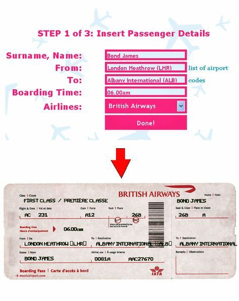 Fake Plane Ticket Template Ticket O Matic is the Best Fake Flight Ticket Generator