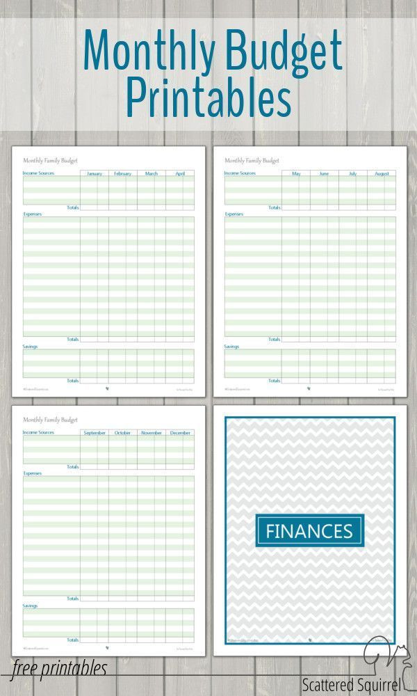 Family Budget Planner Template Monthly Family Bud Printables Collection