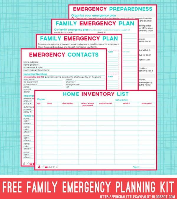Family Emergency Plan Template Free Emergency Plan Features 5 Editable Pages Tips for
