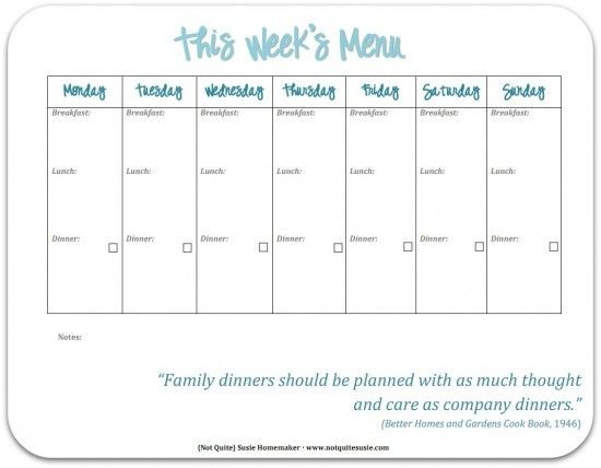 Family Meal Planner Template 30 Family Meal Planning Templates Weekly Monthly Bud