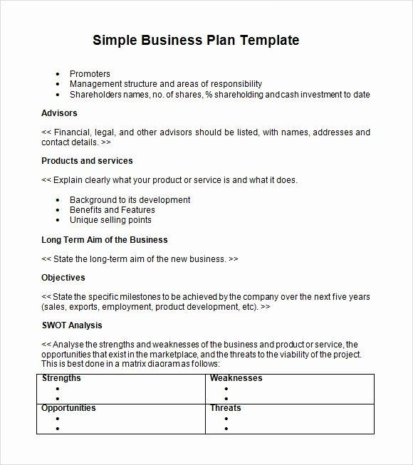 Farm Business Plan Template Free Farm Business Plan Template Lovely Simple Business Plan