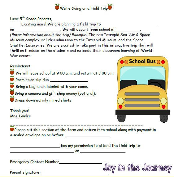 Field Trip Lesson Plan Template Tricks Of the Trade Linky Field Trips