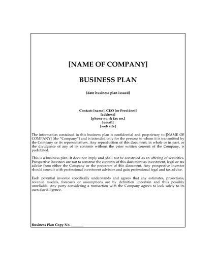 Film Business Plan Template Feature Business Plan