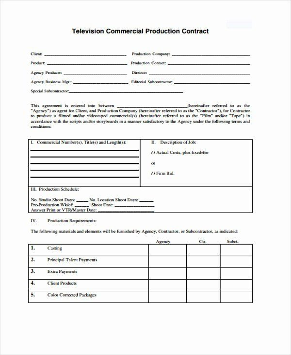 Film Business Plan Template Video Production Contract Template Beautiful 10 Production