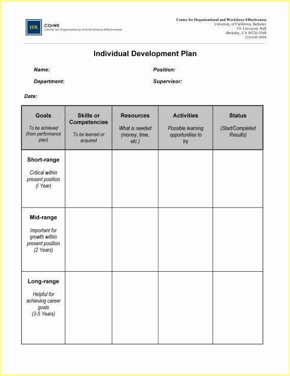 Five Year Career Plan Template 5 Year Career Plan Template Inspirational Career Development