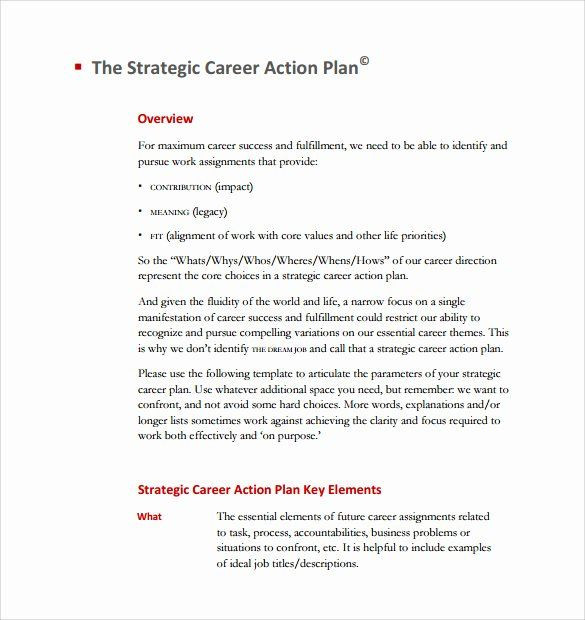 Five Year Career Plan Template Employment Action Plan Template Elegant Sample Career Plan