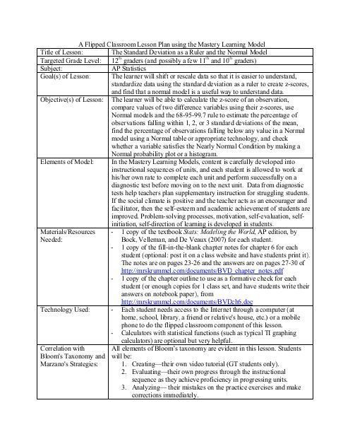 Flipped Classroom Lesson Plan Template Pin On Teaching is An Art