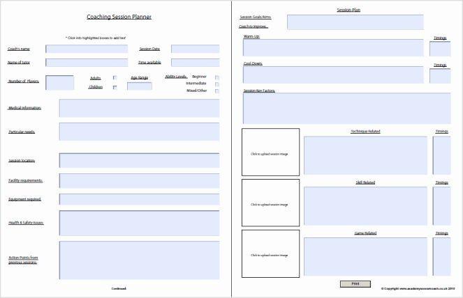 Football Session Plan Template Blank Football Practice Plan Template Elegant Interactive