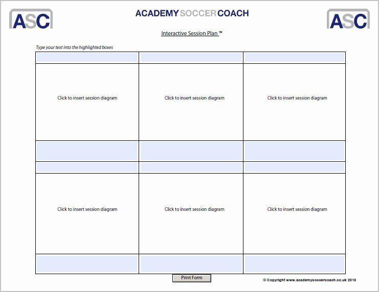 Football Session Plan Template Football Session Plan Template Elegant Interactive Session