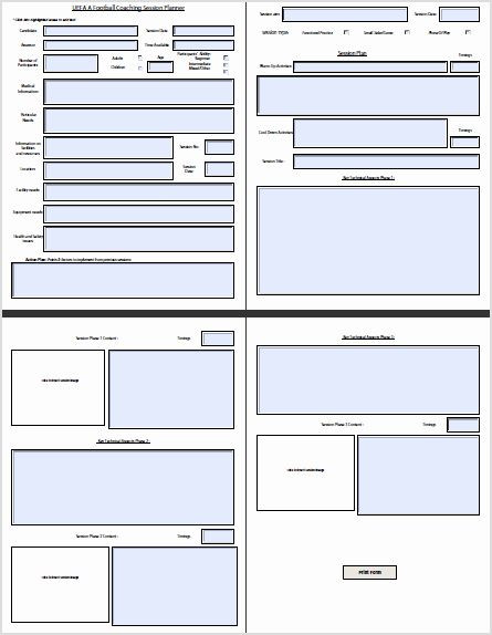 Football Session Plan Template soccer Session Plan Template Elegant Interactive Session