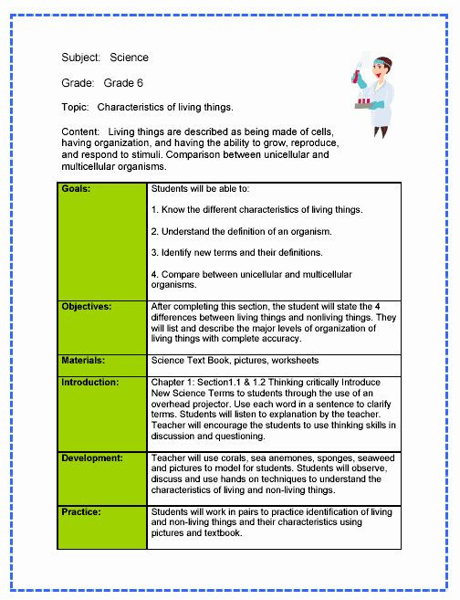 Formal Lesson Plan Template formal Lesson Plan Template Beautiful Science Lesson Plan