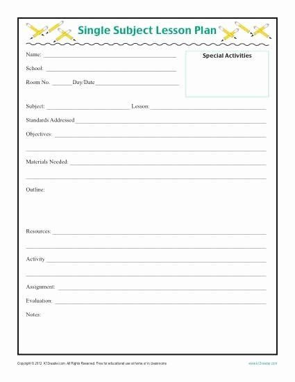 Formal Lesson Plans Template 40 formal Lesson Plan Template In 2020