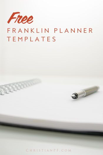 Franklin Covey Weekly Planner Template Free Franklin Planner Templates