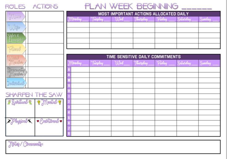 Franklin Covey Weekly Planner Template Printable A4 Pdf Weekly Wall Planner Calendar Based On the