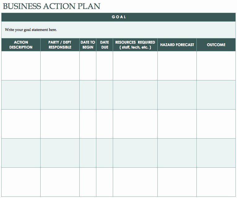 Free Action Plan Template Educational Action Plan Template Luxury Free Action Plan