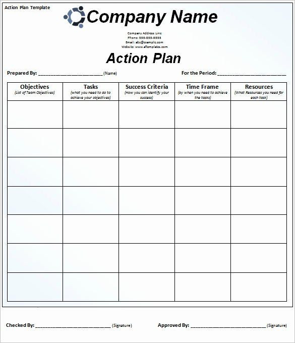 Free Action Plan Template Excel Free Action Plan Template Inspirational 90 Action Plan