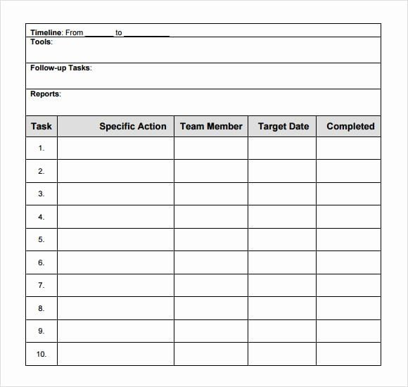 Free Action Plan Template Excel Free Action Plan Template Inspirational top 6 Free Action