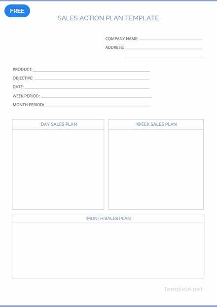 Free Action Plan Template Free Sales Action Plan Template Pdf Word Doc