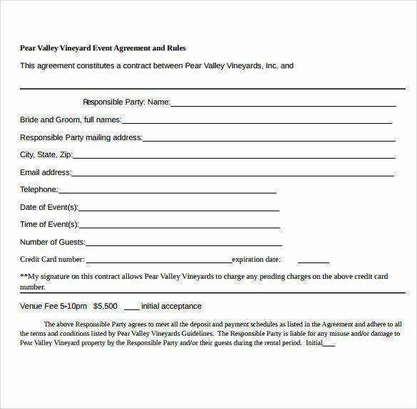 Free event Planner Contract Template event Planning Contract Template Free Unique 19 event