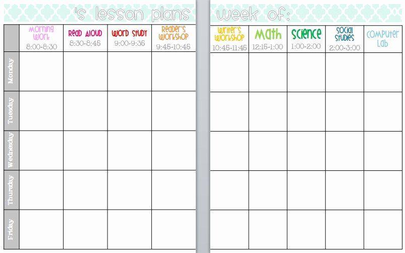 Free Lesson Plan Book Template Cute Lesson Plan Template Luxury Teacher Plan Book Template