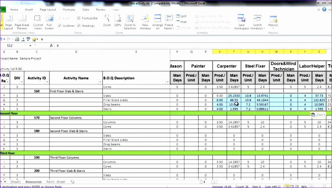 Free Manpower Planning Template Excel Manpower Schedule Excel Beautiful 8 Excel Manpower Planning