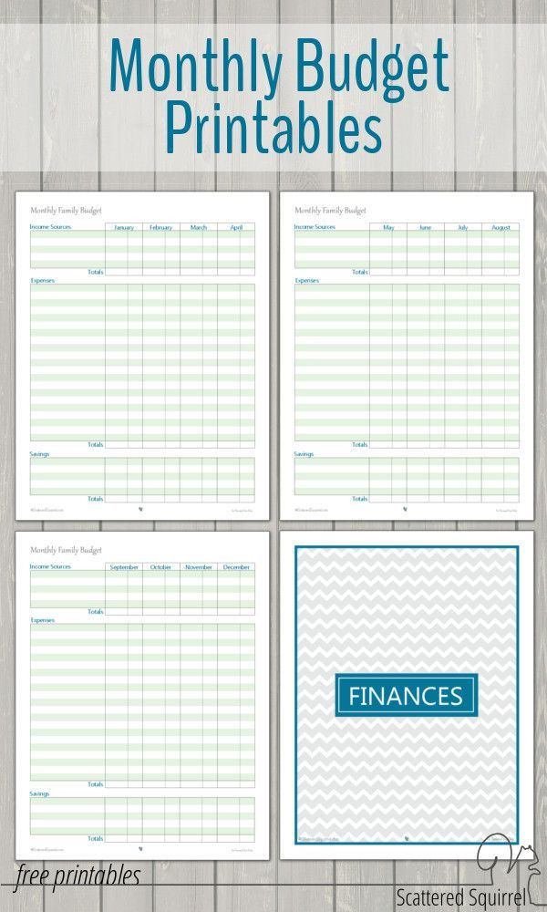 Free Online Budget Planner Template Monthly Family Bud Printables