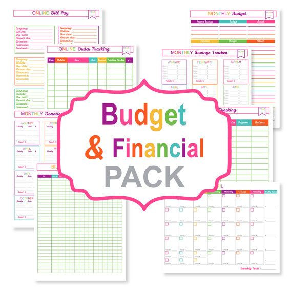 Free Online Budget Planner Template Printable Bud Planner Pack Printable Bill Tracker