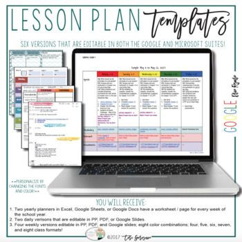 Free Online Lesson Plan Template now Every Template is Available Fully Editable In the Google