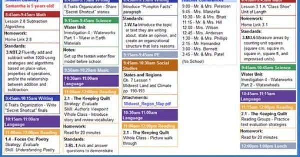 Free Online Lesson Plan Template Planbook Line Teacher Lesson Planning