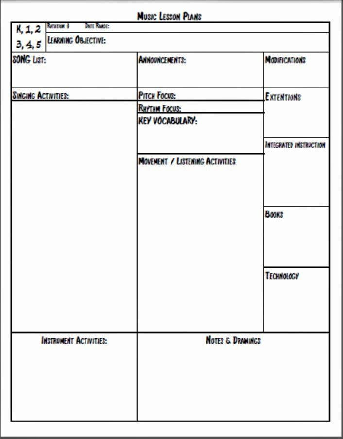 Free Online Lesson Plan Template Teaching Lesson Plan Template Fresh Melodysoup Blog New and