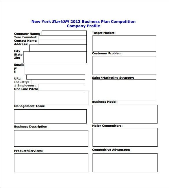 Free Printable Business Plan Template Business Plan Startup Template Startup Business Plan