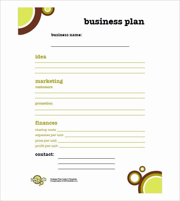 Free Printable Business Plan Template Printable Business Plan Template Fresh Simple Business Plan