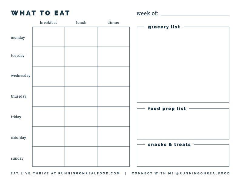 Free Printable Meal Planner Template Free Printable Weekly Meal Planner