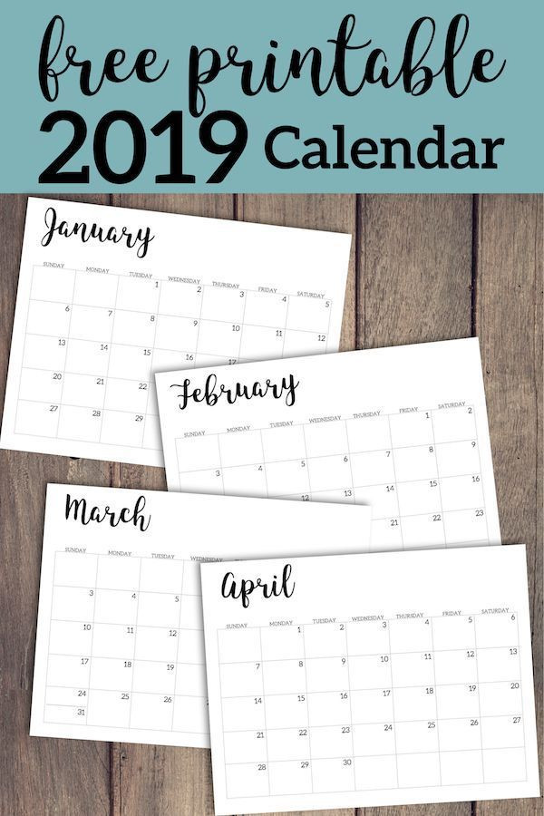 Free Printable Monthly Planner Template 2019 Calendar Printable Free Template
